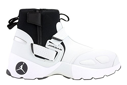 (NIKE Jordan Men's Trunner LX High Boots (Pure Platinum/Black, 9 D(M) US))