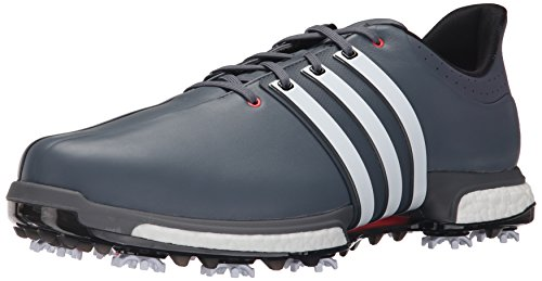 adidas Golf Men's TOUR360 Boost-M, Grey/White/Shk Red, 11 US