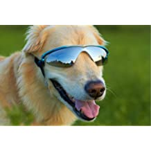 Doggles K9 Optix Blue Rubber Gradient Frame with Smoke Lens Sunglasses, Large