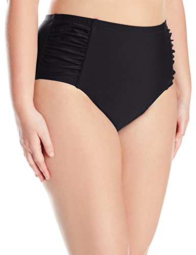 f2c968307c50d Jessica Simpson Women s Plus-Size Solid Shirred High Waisted Bottom ...
