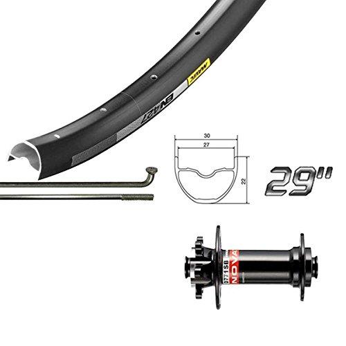 Wheel Shop Mavic EN427 Disc/ DT Champion Black Wheel Front 29'' 32 spokes Novatec D771 15x100mm TA Disc 29' Wheels