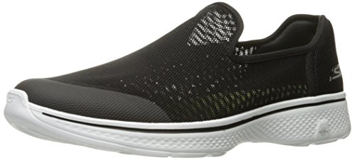 Skechers Performance Mens Go 4-advance Walking Shoe Nero / Bianco