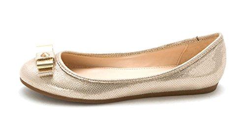 Bar Iii Dames Nul Gesloten Teen Ballet Flats Metallic