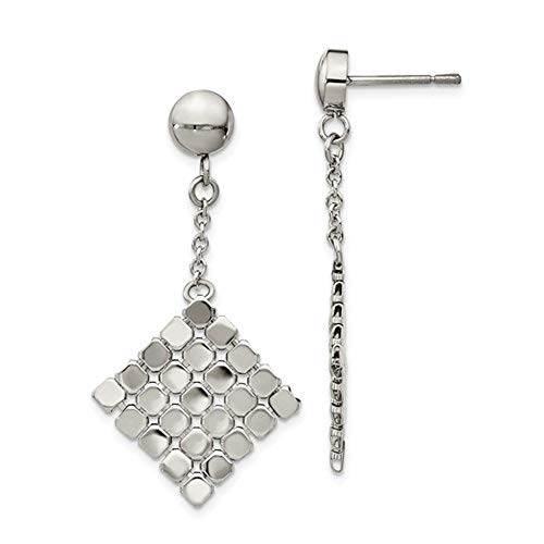 - Stainless Steel Polished Post Dangle Earrings