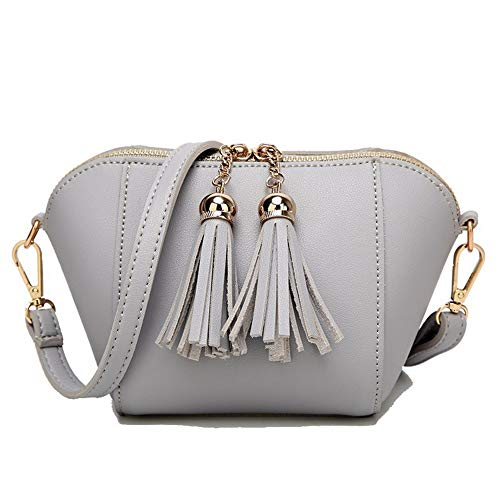 BUTBS181514 Shopping Fringe Clutch AmoonyFashion Handbags Abito donna Grigio Pu Crossbody Bags ZqOnx7S1