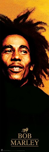 (Bob Marley Red Reggae Rastafarian Music Legend Icon Poster Print 12 by 36)