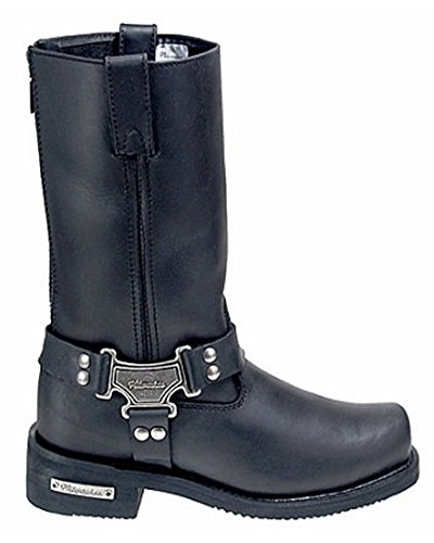 Milwaukee Motorcycle Clothing Company Men's Drag Harness Motorcycle Boots (Black, Size 9.5D)