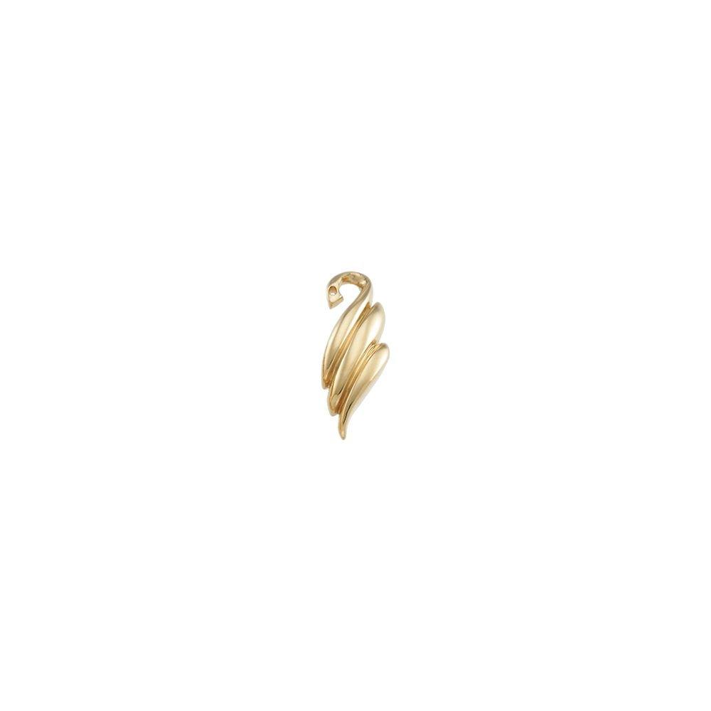 STU001- 18K Yellow Right Earring Jacket by STU001-