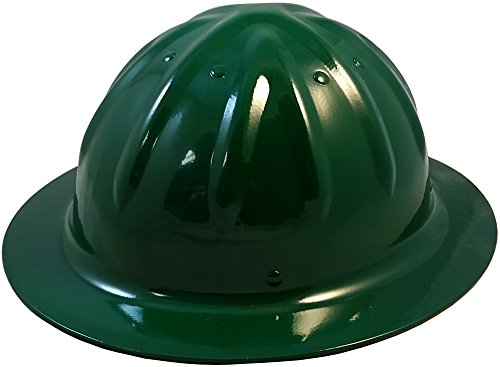 Original SkullBucket Aluminum Hard Hats, Full Brim with Ratchet Suspensions Dark Green