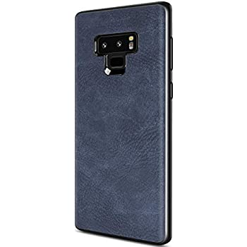 size 40 8ee68 7fb6a Samsung Galaxy Note 9 Case, Salawat Slim PU Leather Vintage Shockproof  Phone Case Cover Lightweight Premium Soft TPU Bumper Hard PC Hybrid  Protective ...