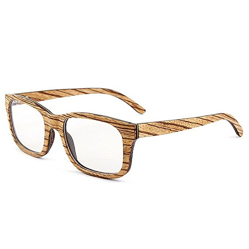 KoTag Classic Wild Leopard Print Men's Wooden Glasses Cat Eyes Frame Glasses Artistic Handmade Leisure Eyewear 100% UV Protection Goggle (Color : ()