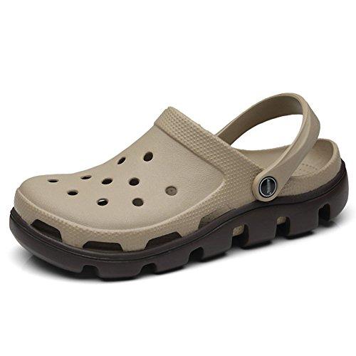 EVA Pantofola Resistente In Sandali Doppio Scarpe Uso Antiscivolo Traforato 7 Colore Cachi Uomo All'usura QIANDA Suola Design Colori Spiaggia dimensioni Cachi Ciabatte Impermeabile Estive Opzionali Z6x5O4w