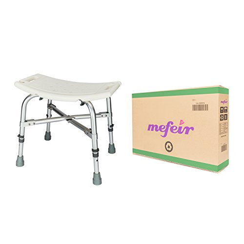 Mefeir Medical Shower Chair Bath Stool Transfer Bench Seat,Heavy Duty 450LBS Upgrade Framework SPA Bathtub Chair,No-Slip Adjustable 6 Height (Normal) by Mefeir (Image #8)