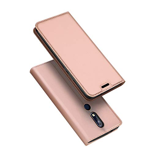 TOTOOSE Nokia 7.1 Cover Shell Protective Skin Double Layer Bumper Shell Shockproof Impact Defender Protective Case Cover for Nokia 7.1, Rose Gold