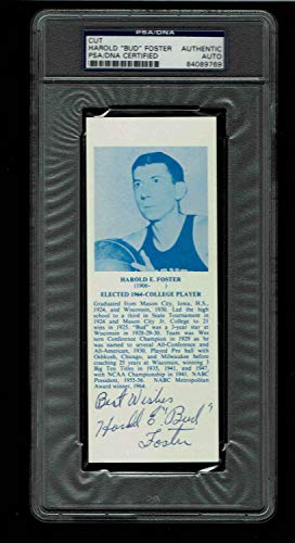 Harold Bud Foster Autographed Signed HOF Bookmarks Autographed Signed Certified PSA/DNA Authentic