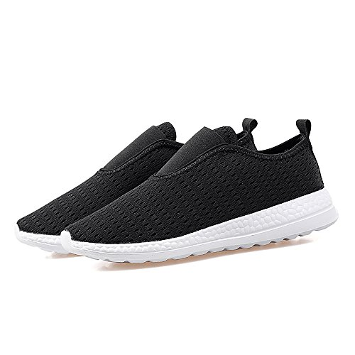 Yuanli Femmes Glisser Sur Des Chaussures De Marche Confortables Courir Baskets Noir