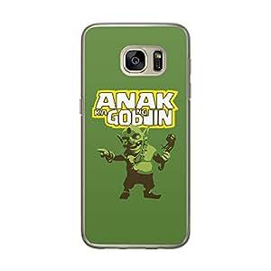 Loud Universe Samsung Galaxy S7 Clash Of Clans Anak Ka Ng Goblin Printed Transparent Edge Case - Green