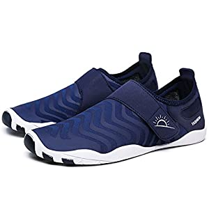 L-RUN Men's Water Shoes Athletic Sport Lightweight Walking Shoes Navy XXXL(M:12-13)=EU 45-46