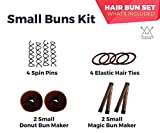 Hawwwy 12-piece Hair Bun Maker, Easy & Fast Small