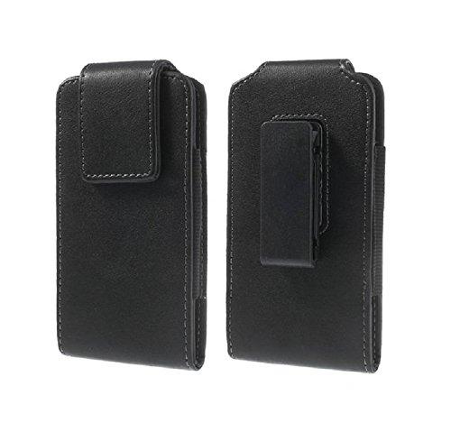 DFV mobile - Magnetic Leather Holster case Belt Clip Rotary 360º for => Huawei NOVA LITE 2 > Black -  DF-FC360-N3-N-C1-241