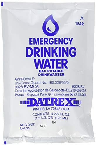 Water Sachet - Datrex Emergency Survival Water Pouch (Pack of 66), 125ml (Renewed)