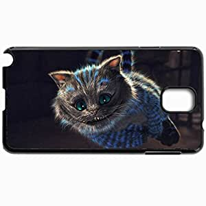 Customized Cellphone Case Back Cover For Samsung Galaxy Note 3, Protective Hardshell Case Personalized Funny Cat Wide Black