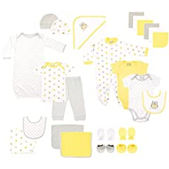 Luvable Friends 24-piece gift cubes feature all your baby essential needs in one easy to purchase baby package. All pieces in the gift cube are designed to coordinate together to make dressing your little one fun, convenient and easy. Our gif...