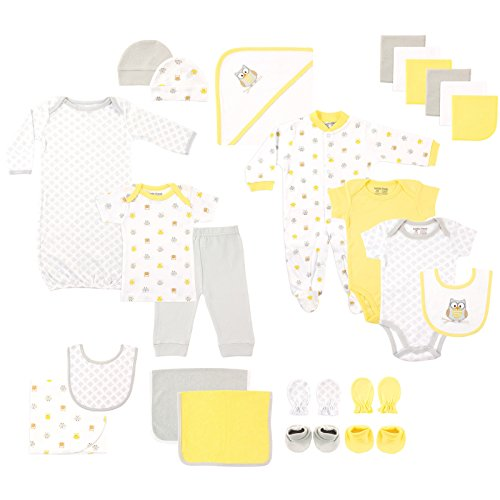 Luvable Friends Baby 24 Piece Gift Cube Set, Owl, 0-6 Months