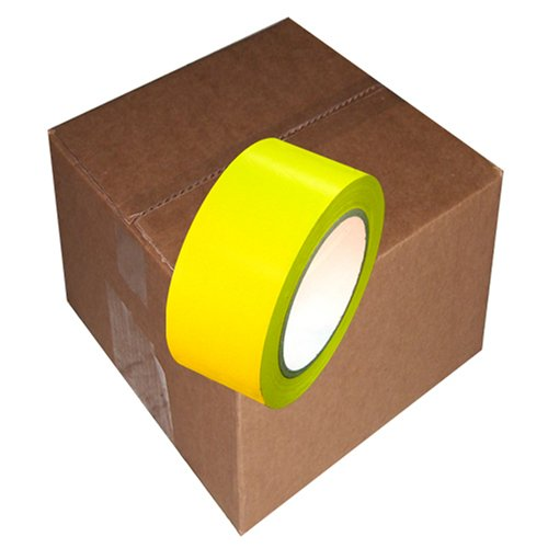 Yellow vinyl tape CVT-636(2'' x 36 yd.) Case (24 Rolls) by Tapebrothers
