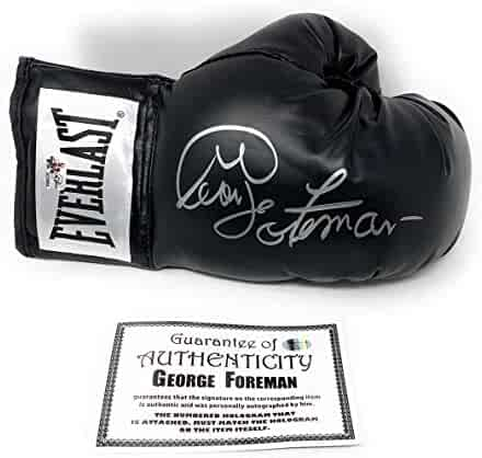 0ffa2dd8cd7 George Foreman Signed Autograph Boxing Glove Black Foreman Authentic  Certified