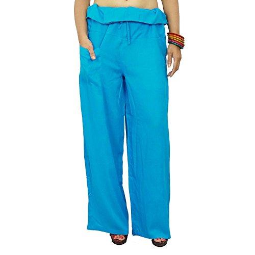 Hippie Holgada Del Yoga Harem Aladdin Pantalón Harem Mujeres Pantalones India Turquesa