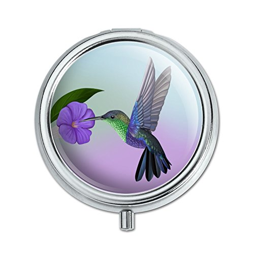 Hummingbird Crowned Woodnymph Purple Violet Pill Case Trinket Gift ()