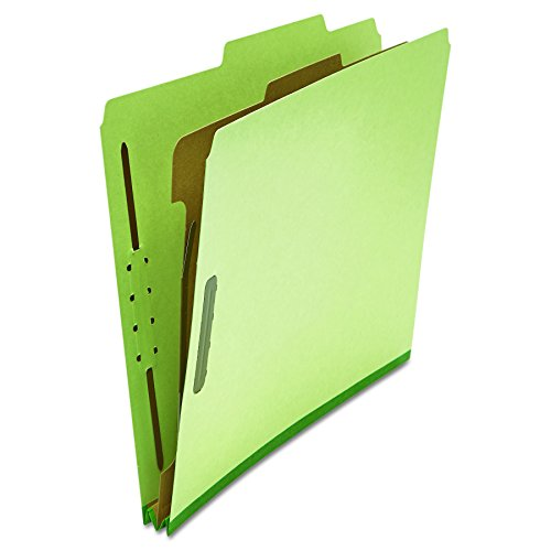 (Universal 10251 Pressboard Classification Folder, Letter, Four-Section, Green (Box of 10))