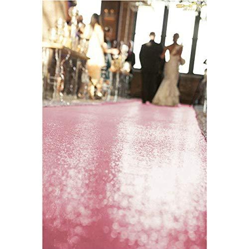 ShinyBeauty Aisle Runner Tape-Pink Gold-4FTX15FT,Shimmer Sequin Fabric Wedding Floor Runner,Glitter Carpert Runner ()