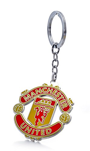 Official Soccer Team Football Club Logo Metal Pendant Keychain (Manchester United F.C.)