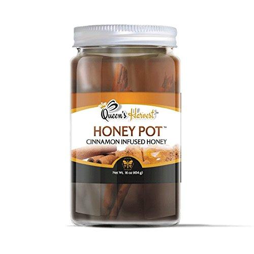 Queen's Harvest Gourmet Cinnamon Infused Honey Pot