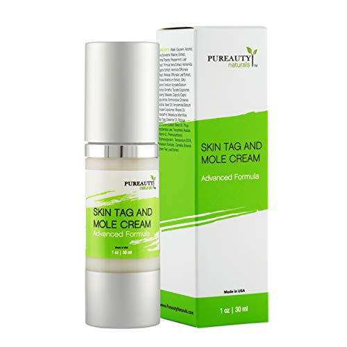 Skin Tag Mole and Wart Cream Advanced Formula Vegan Friendly Natural Ingredients, Nourishing Moisturizer Remover Removal for Healthy Complexion By Pureauty Naturals (Packaging 2)