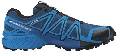 Salomon Hombres Speedcross 4 Cs Trail Runner Blue Depth / Bright Blue / Black