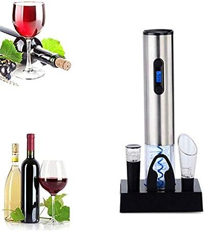 NOBRAND Sacacorchos Sacacorchos Eléctrico Abrebotellas Eléctrico De Vino De Acero Inoxidable con Carga