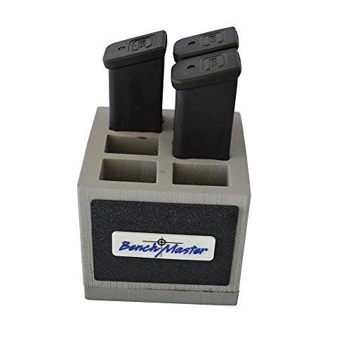 Benchmaster - Weapon Rack - Double Stack .45 Magazine Rack - 6 unit - Gun Safe Storage Accessories - Pistol Mag (Magazine Unit)