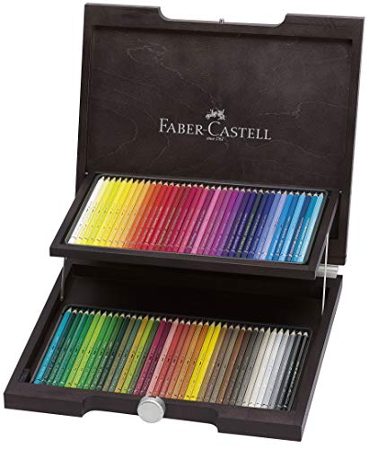 Faber-Castell 72 Albrecht Dürer Artist Watercolour Pencils in Wenge-Stained Wooden Case