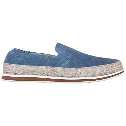 Prada Slip on Uomo in camoscio Sneakers Nuove Originali Blu