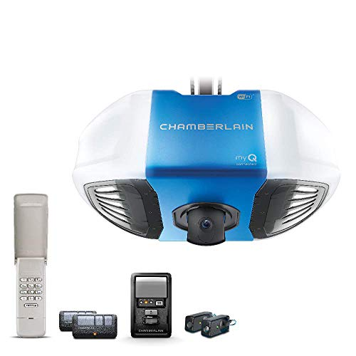 Chamberlain B4545 Secure View Video 3/4 HP Garage Door Opener, Blue