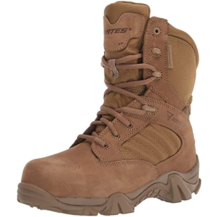 """Bates Men's 11"""" Paratrooper Side Zip Military and Tactical Boot"""