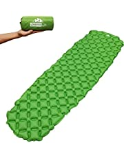 """Outdoorsman Lab Camping Accessories – 73"""" x 21.6"""" x 2.2"""" Inflatable Sleeping Pad – Compact, Portable Bed Mat for Travel, Hiking, Backpacking - Folding Air Mattress for Outdoor Sleep Gear, Tents, Bag"""