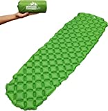 Outdoorsman Lab Inflatable Sleeping Pad – Ultralight, Compact Inflating Pads - Portable Bed Mat for Travel, Hiking, Backpacking - Folding Air Mattress for Sleep Bag, Camping Accessories (Green)