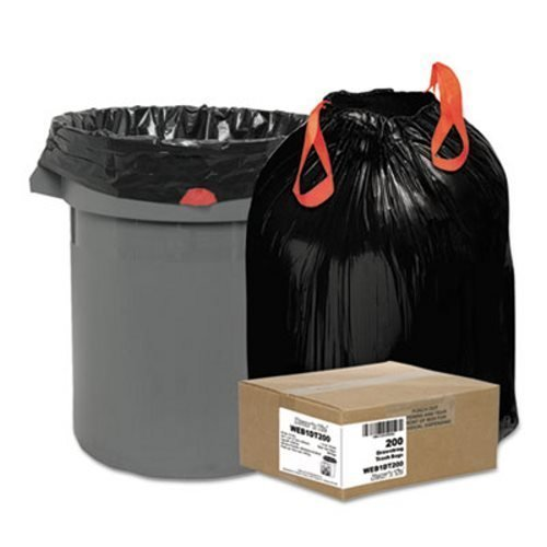 eavy-Duty Bags, 30gal, 1.2mil, 30 1/2 x 33, Black, 200/Box ()
