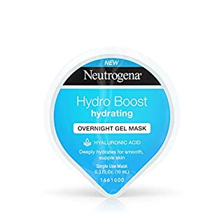 Neutrogena Hydro Boost Moisturizing Overnight Gel Cream Face Mask with Hydrating Hyaluronic Acid, 0.3 fl. oz (Pack of 12)