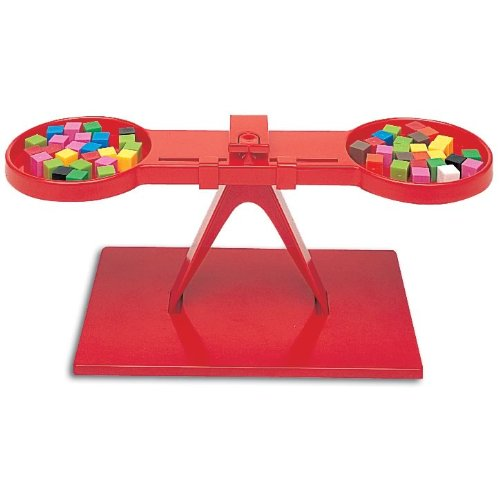 hand2mind Red Economy Plastic Math Balance for Kids