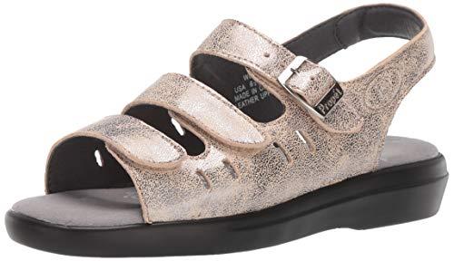- Propet Women's Breeze Walker Sandal, Pearl Pewter, 11 XX-Wide